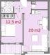 1 спальная 61m2, вторичка в Варне
